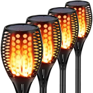 Aityvert Solar Lights Upgraded 42.9 Inch Flickering Flame Torch