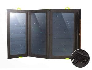 Ryno Tuff 21W Dual USB Solar Panel with Built-In Battery Power Bank