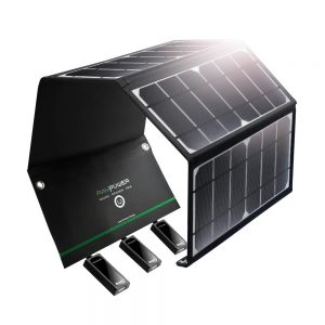RavPower Solar Charger 24W Solar Panel with 3 USB Ports